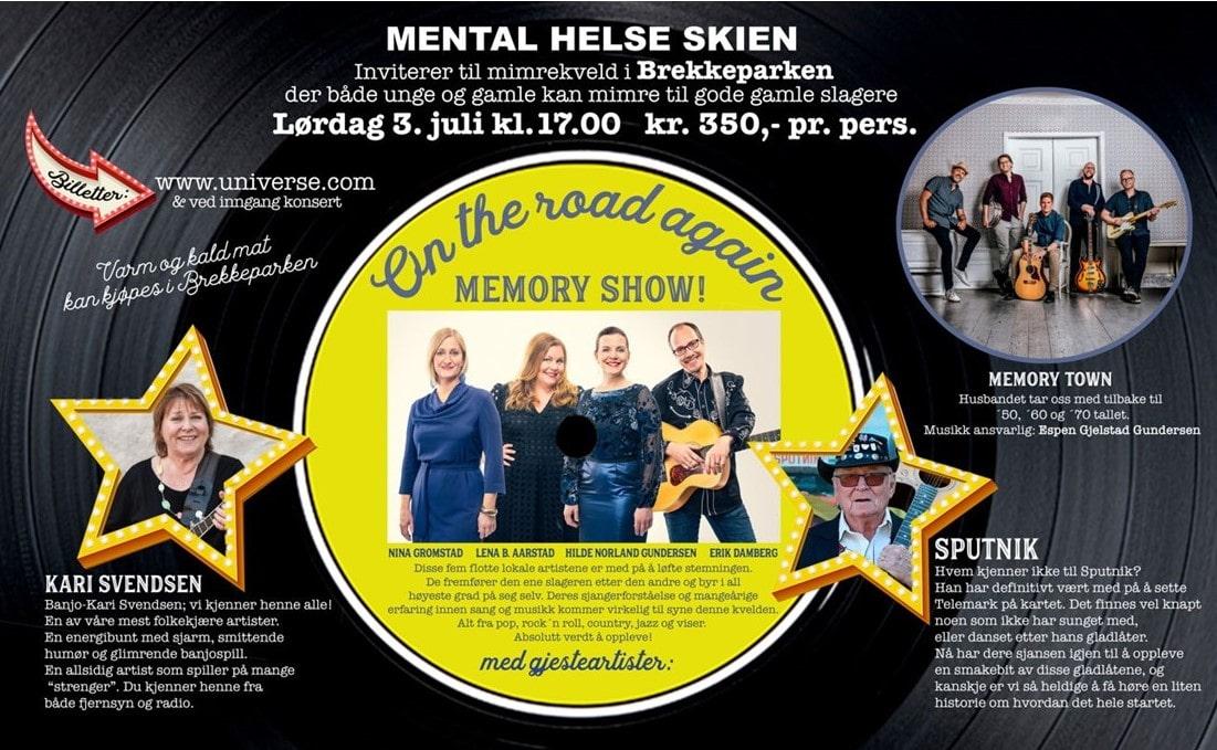 On the road again, konsert til inntekt for mental helse, Skien